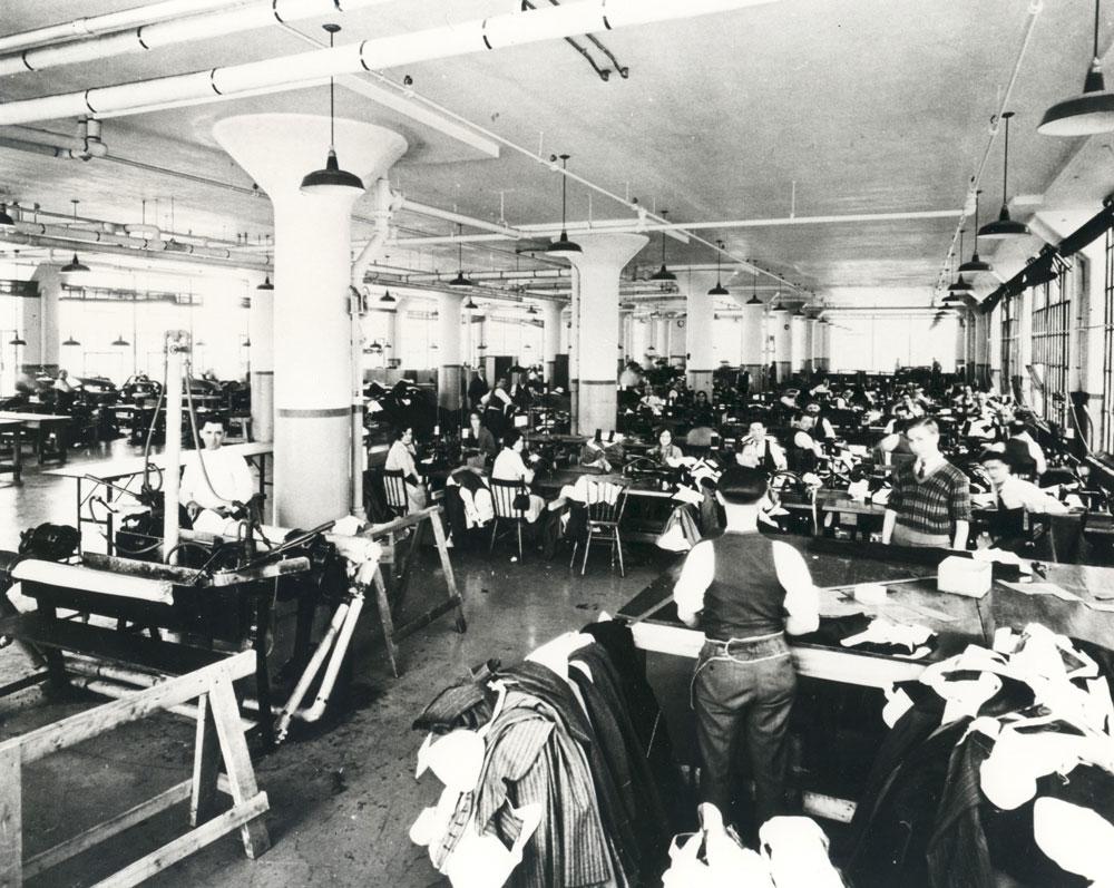 Tip Top Tailors factory interior, ca. 1933.